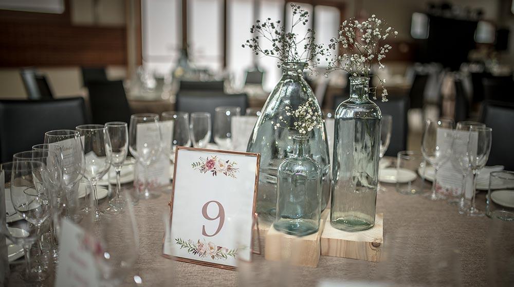 Mesa salón bodas